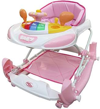 Bebe Style Deluxe F1 Racing Car Walker and Rocker, Pink