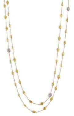 "Marco Bicego Siviglia Diamond& 18K Yellow Gold Necklace/36"" - Yellow Gold"