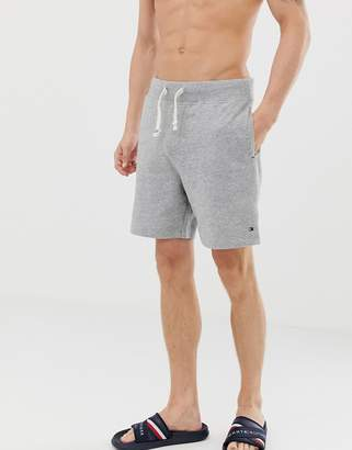 Tommy Hilfiger flag logo sweat shorts regular fit in gray marl