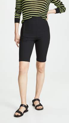Tibi High Waisted Biker Shorts