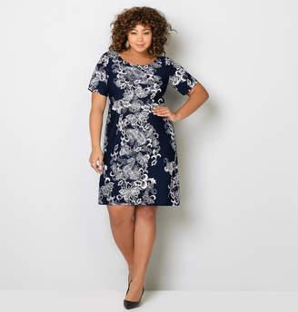Avenue Paisley Scroll Sheath Dress