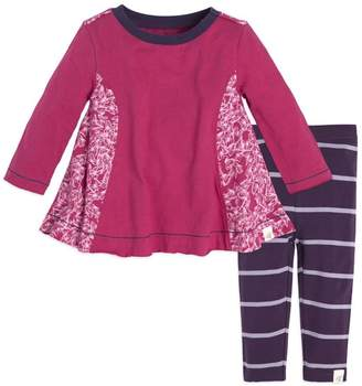 Burt's Bees Scattered Butterflies Organic Baby Tunic & Legging Set