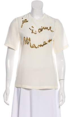 Dolce & Gabbana Je T'aime Maman Beaded Top