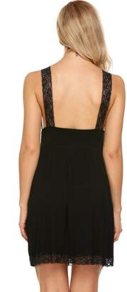 Avidlove Womens Chemise Nightgown Lace Trim Sleep Dress Summer Sleepwear S-XXL