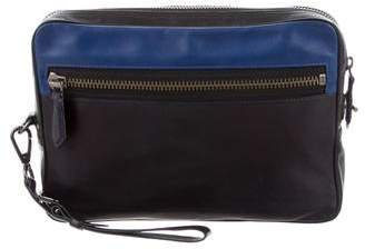 Reed Krakoff Tricolor Leather Clutch