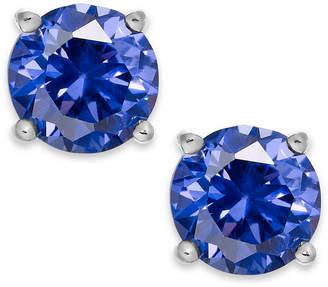 Giani Bernini Periwinkle Cubic Zirconia Stud Earrings in Sterling Silver (2 ct. t.w.)