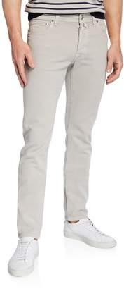 Men's Cotton-Stretch Straight-Leg Pants