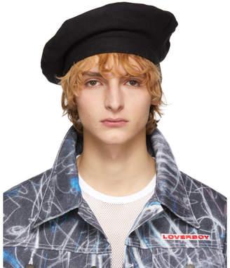 5691ae4f09038 Charles Jeffrey Loverboy Black Wool Beret