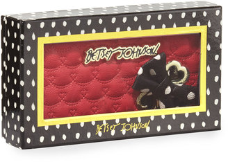 Betsey Johnson Boxed Swag Hearts Side Bow Wallet, Red $50 thestylecure.com