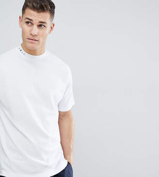 Noak T-Shirt With High Neck And Drop Shoulder In White