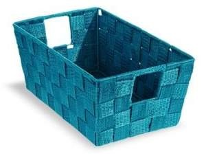 Distinctly Home 11-Inch Teal Woven Storage Box