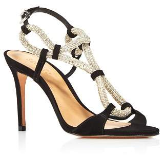 Schutz Women's Zemna Rhinestone High-Heel Sandals