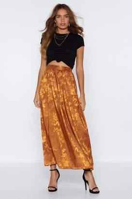 Nasty Gal Long Gone Jacquard Skirt