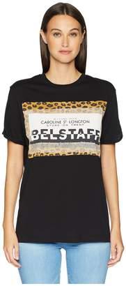 Belstaff Perrins Leopard Graphic Jersey Tee Women's T Shirt