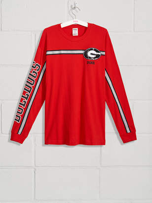 PINK University of Georgia Bling Long Sleeve Campus Tee