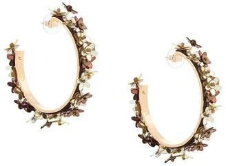 Mignonne Gavigan flower detail hoop earrings