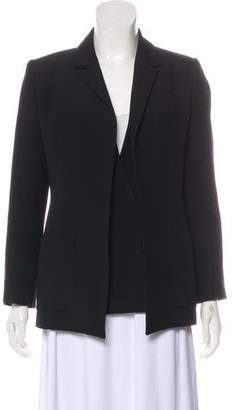 Balenciaga Notch-Lapel Button-Up Blazer