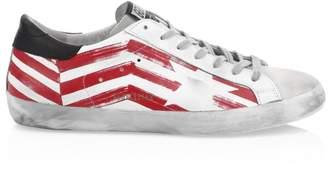 Golden Goose Men's Red Flag Superstar Sneakers