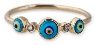 Jacquie Aiche 2 Diamond 3 Eye Ring