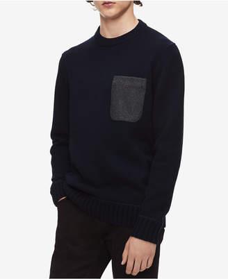 Calvin Klein Men Felt-Pocket Sweater