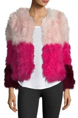 Pello Bello Colorblock Fluffy Feather Fever Jacket