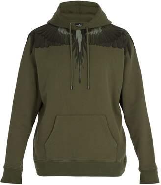 Marcelo Burlon County of Milan Wing-print cotton hooded sweatshirt