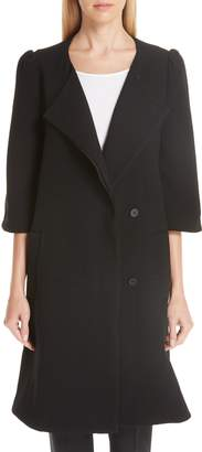 Co Essentials Crop Sleeve A-Line Coat