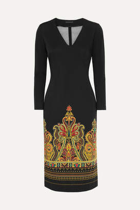 Etro Printed Stretch-jersey Dress - Black