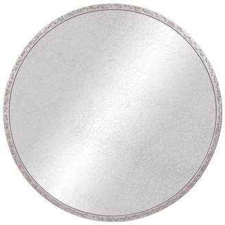 """Pinnacle Frames and Accents 30"""" Galvanized Metal Round Antiqued Wall Mirror"""