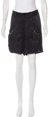 Mayle Silk Knee-Length Shorts