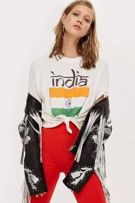 Topshop Tee & Cake India Knot Crop T-Shirt by Tee Cake