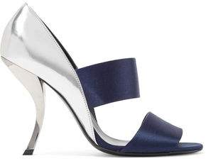 Roger Vivier Satin And Metallic Glossed-Leather Sandals