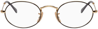 Ray-Ban Gold and Black Metal Icons Glasses