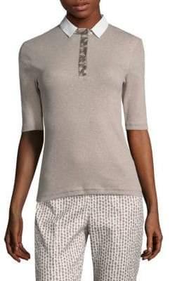 Peserico Elbow-Sleeve Jersey Polo