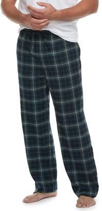 Croft & Barrow Big & Tall Plaid Flannel Lounge Pants