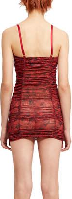 DAY Birger et Mikkelsen Eric Schlösberg Rose Printed Ruched Mini Dress