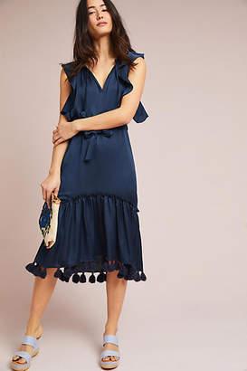 MISA Lenora Tasseled Midi Dress