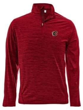 Levelwear Calgary Flames Quarter-Zip Pullover