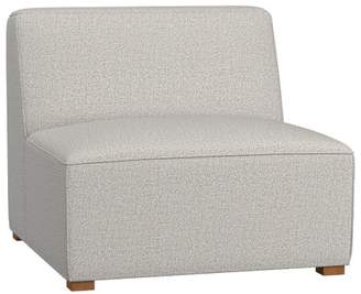 Pottery Barn Teen Riley Lounge Collection, Armless Chair, Boucle Twill Gravel, QS UPS