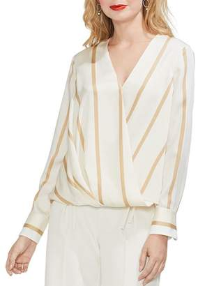 Vince Camuto Striped Crossover Top