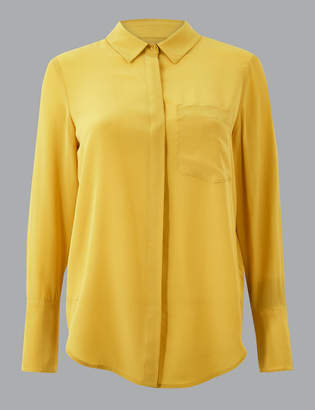 Marks and Spencer Pure Silk Button Detailed Shirt