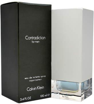 Calvin Klein Contradiction Men's 3.4Oz Eau De Toilette Spray