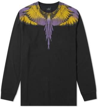 Marcelo Burlon County of Milan Long Sleeve Wings Shoulder Tee