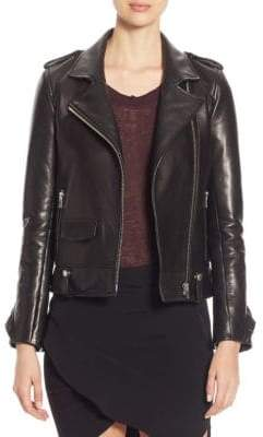 IRO Dumont Ruffled Leather Jacket