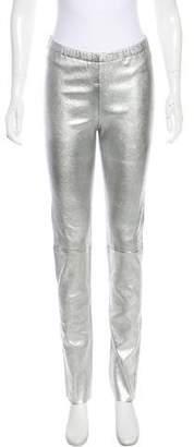 Zadig & Voltaire Mid-Rise Metallic Pants