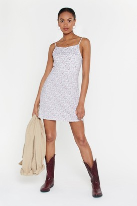Nasty Gal Womens Once And Floral Mini Dress - White - 10