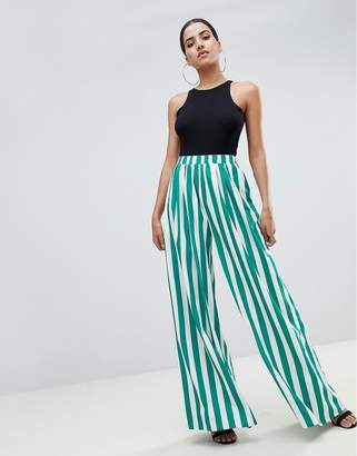 PrettyLittleThing Stripe Wide Leg Pants
