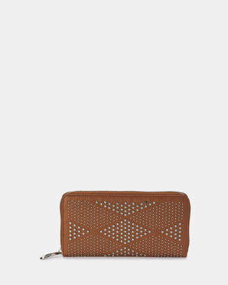 Olga Berg Lily Leather Studded Wallet