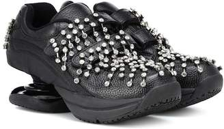 Christopher Kane Crystal leather sneakers