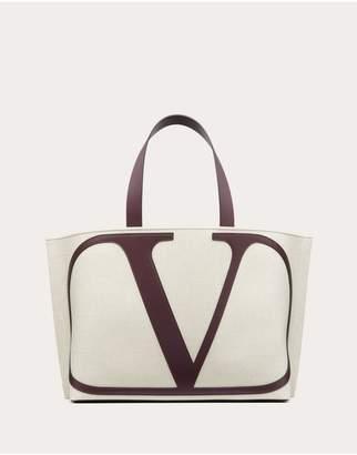 Valentino Garavani Vlogo Canvas Beach Bag